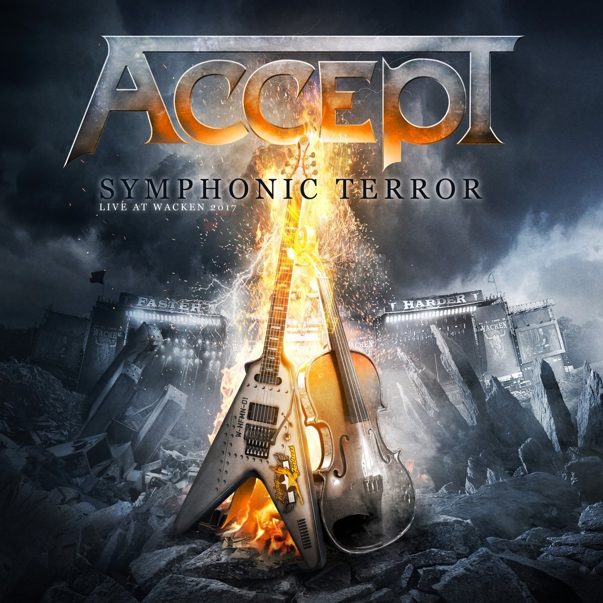 accept symphonic terror live at wacken 2017 album cover