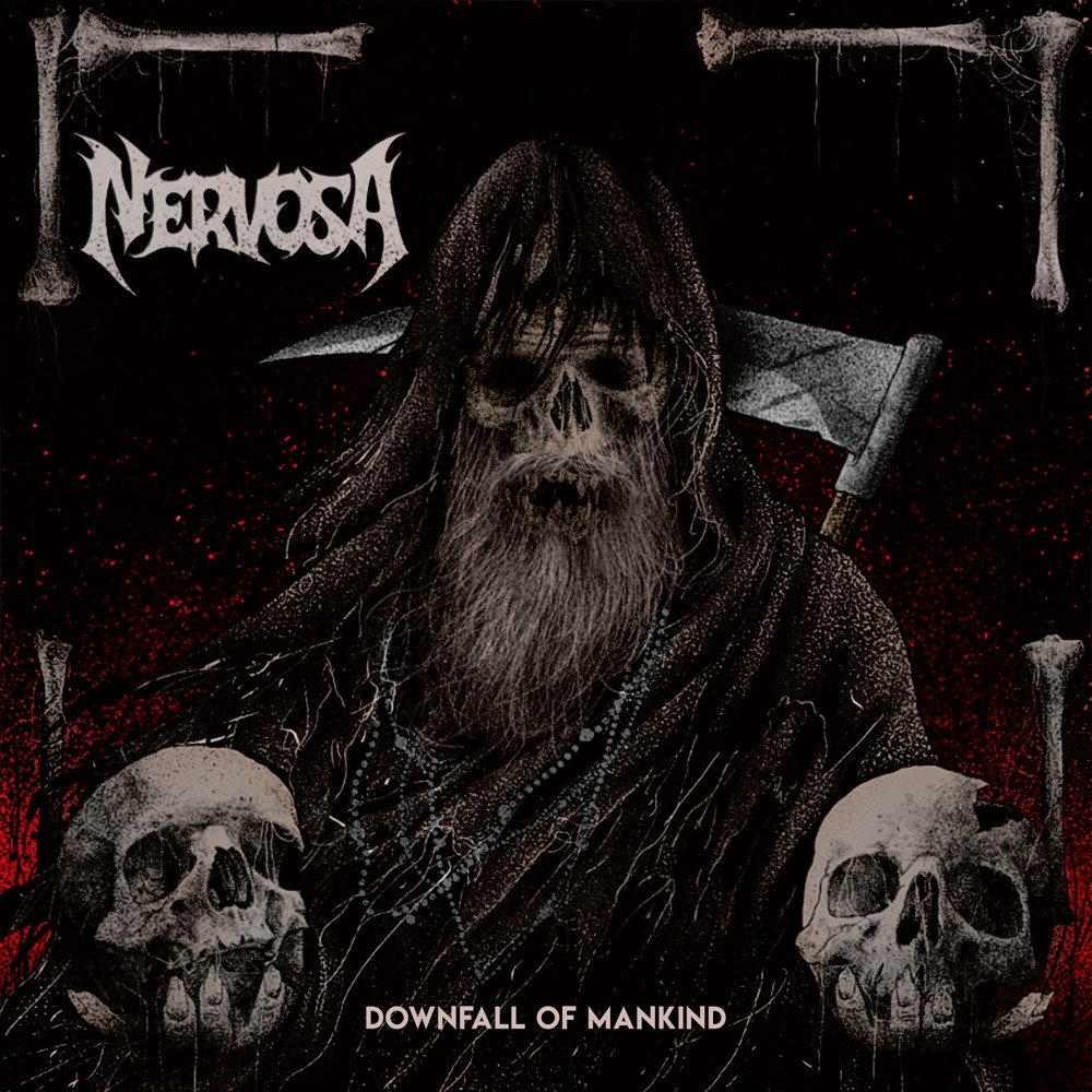 nervosa downfall of mankind album cover