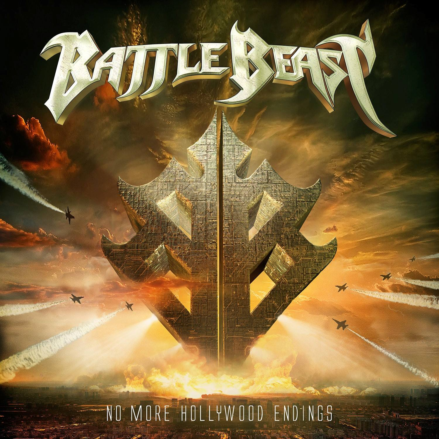 battle beast no more hollywood endings album coverart