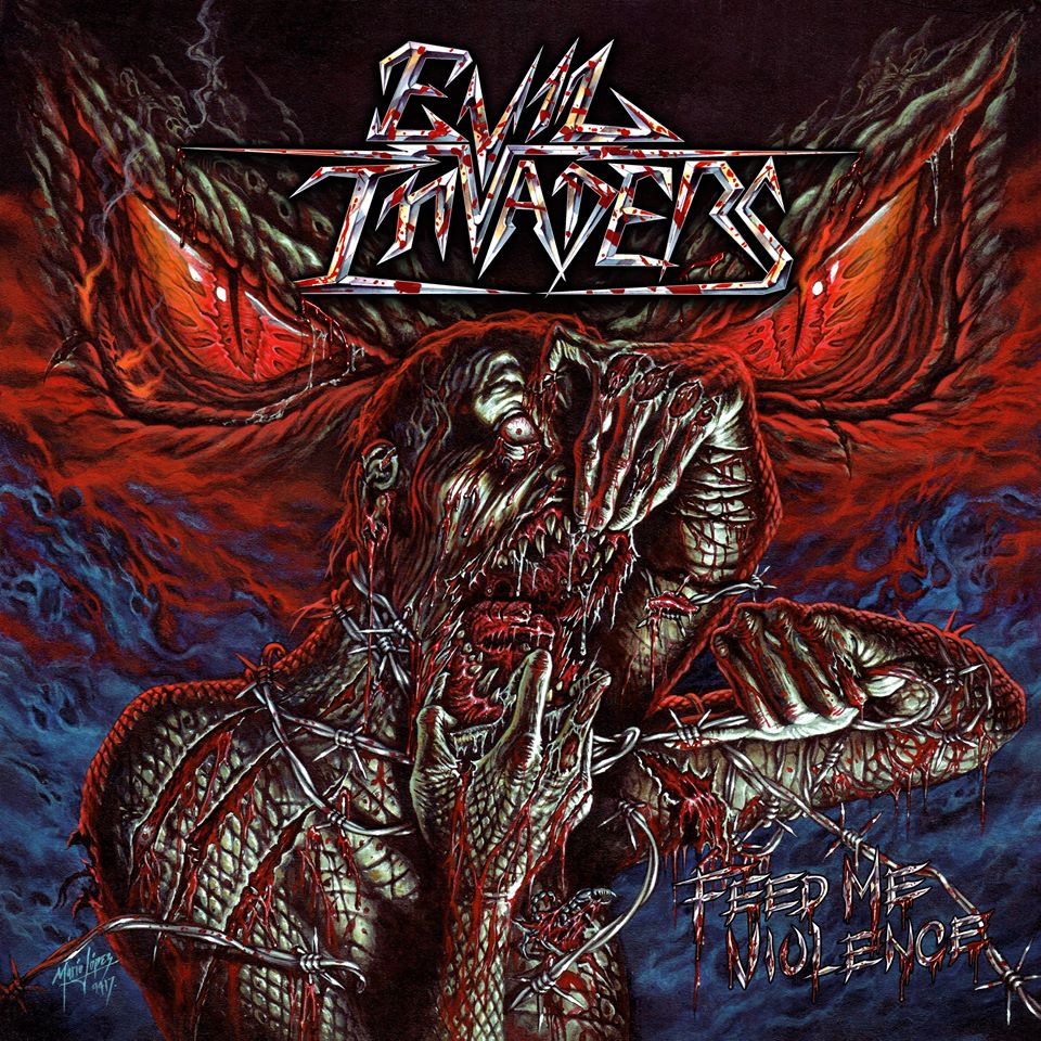 evil invaders feed me violence album cover
