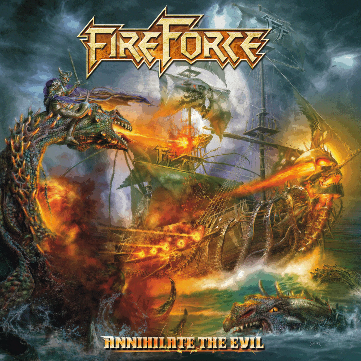 fireforce annihiliate the evil album cover