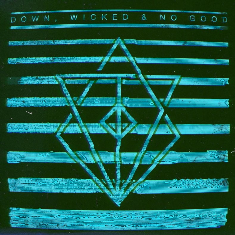 in flames down wicked & no good album cover