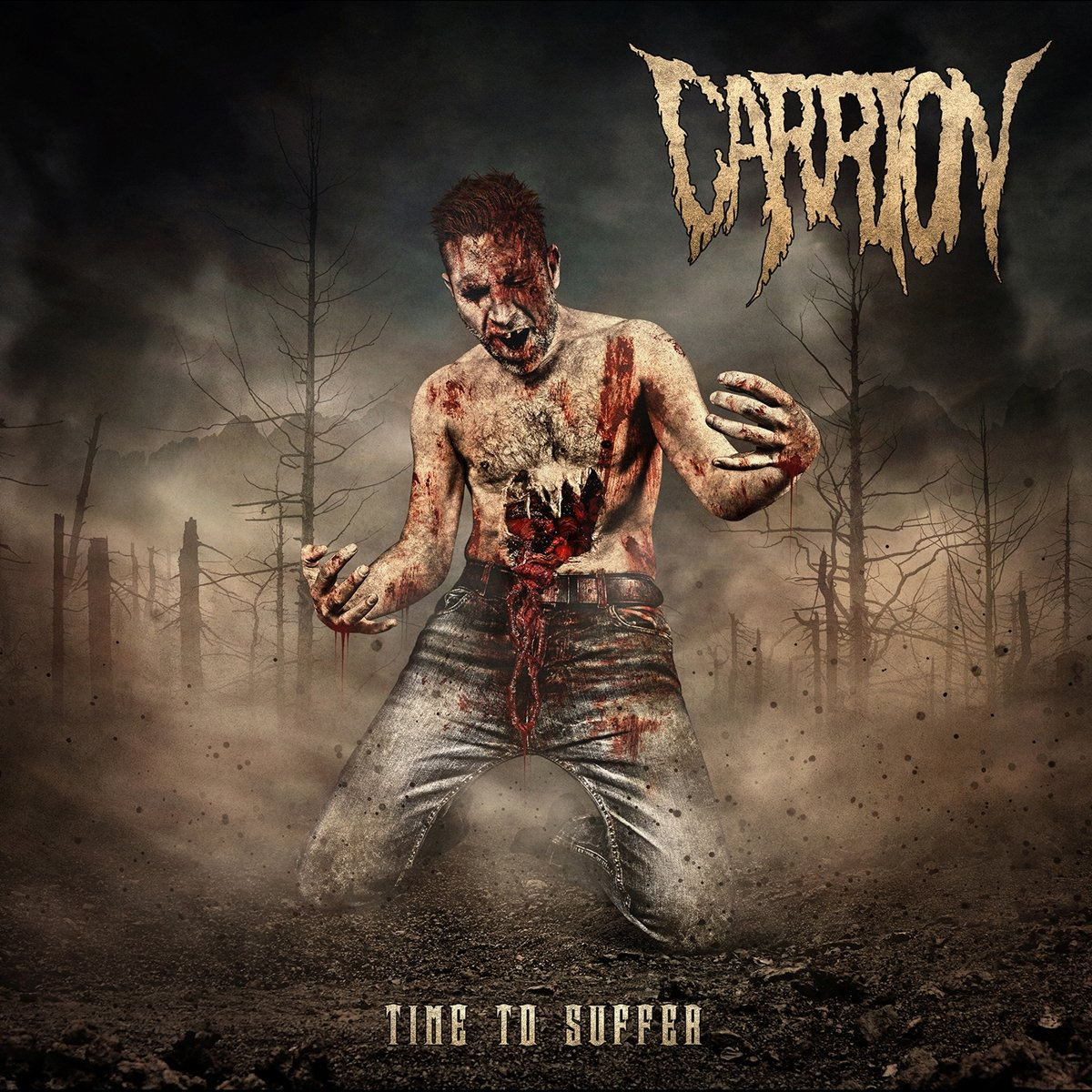 carrion time to suffer album cover
