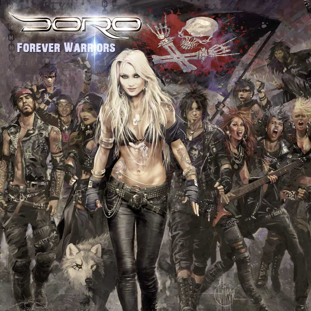 doro forever united forever warriors album cover art