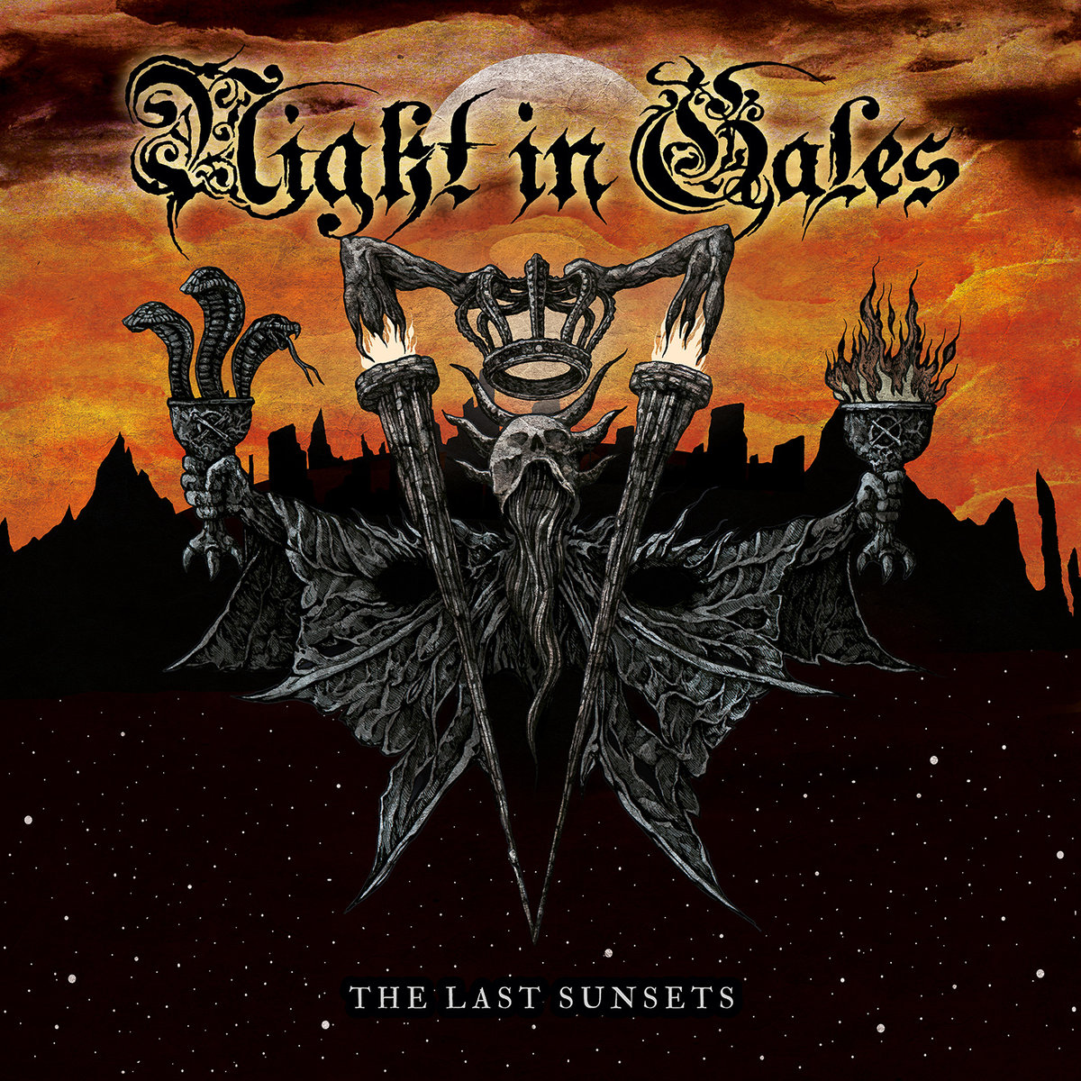 night in gales the last sunsets album cover