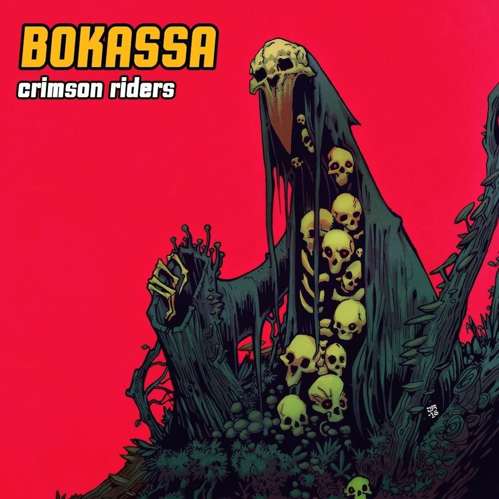 bokassa crimson riders album cover