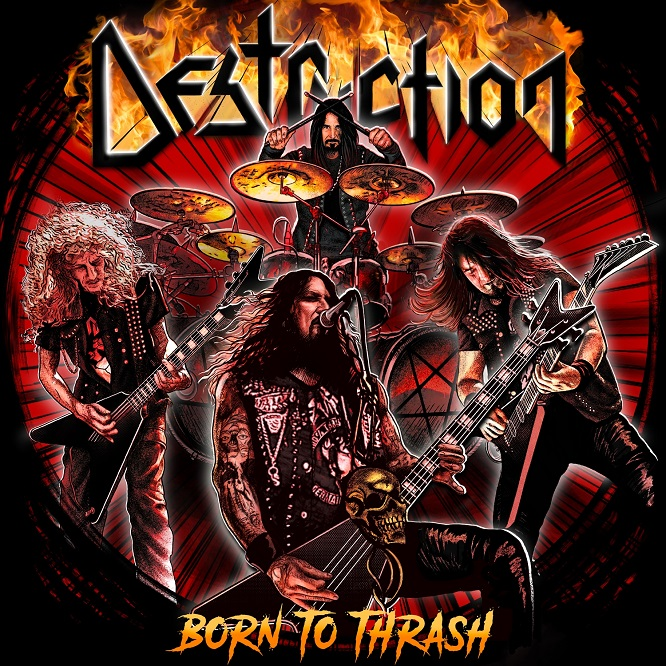 destruction born to thrash live in germany album cover