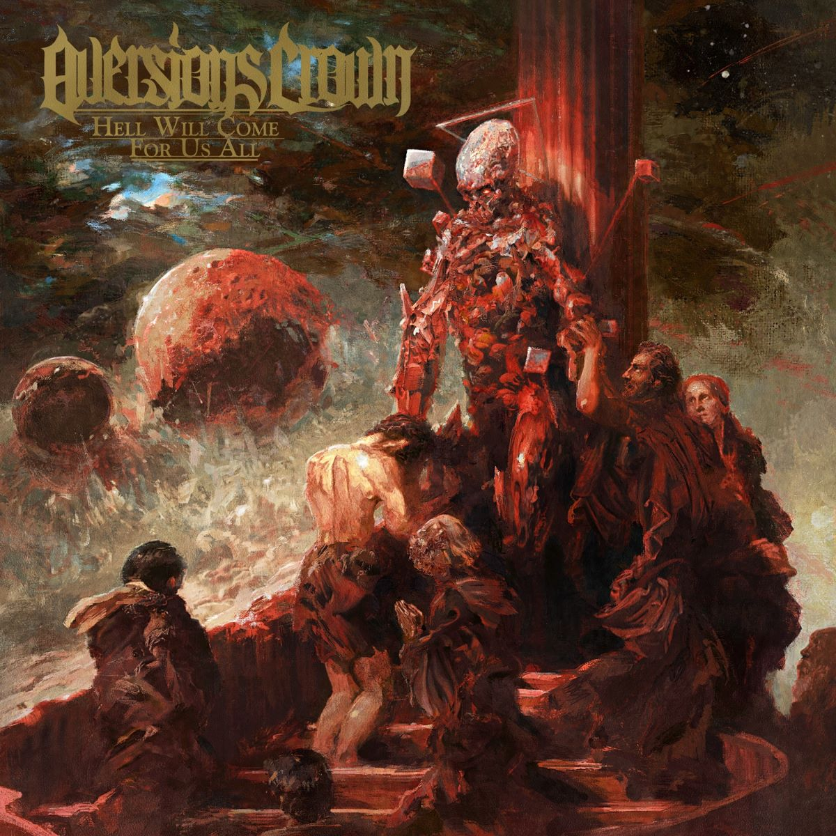 aversions crown hell will come for us all album cover