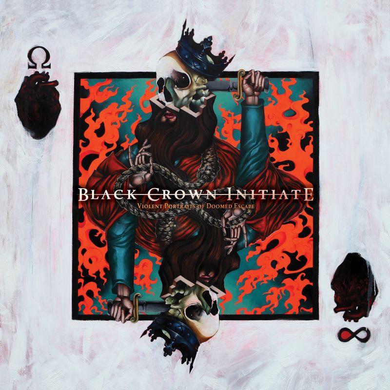 black crown initiate vioment portraits of doomed escape album cover
