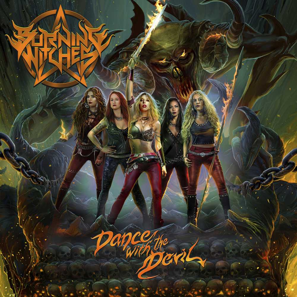burning witches dance with the devil album cover art