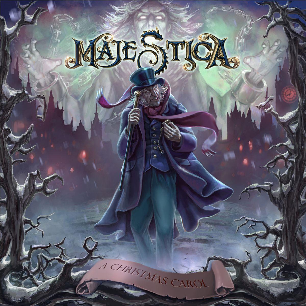 majestica a christmas carol album coverart