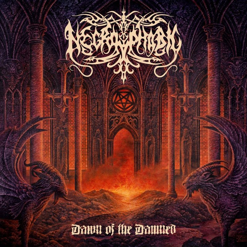 necrophobic dawn of the damned album cover