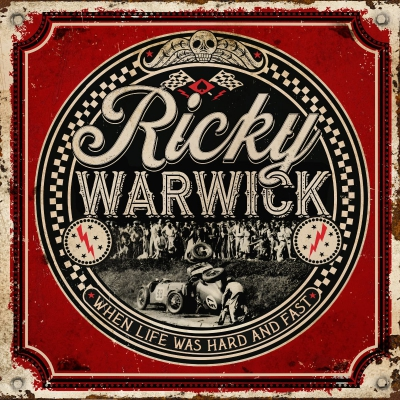 ricky warwick when life was hard and fast album coverart