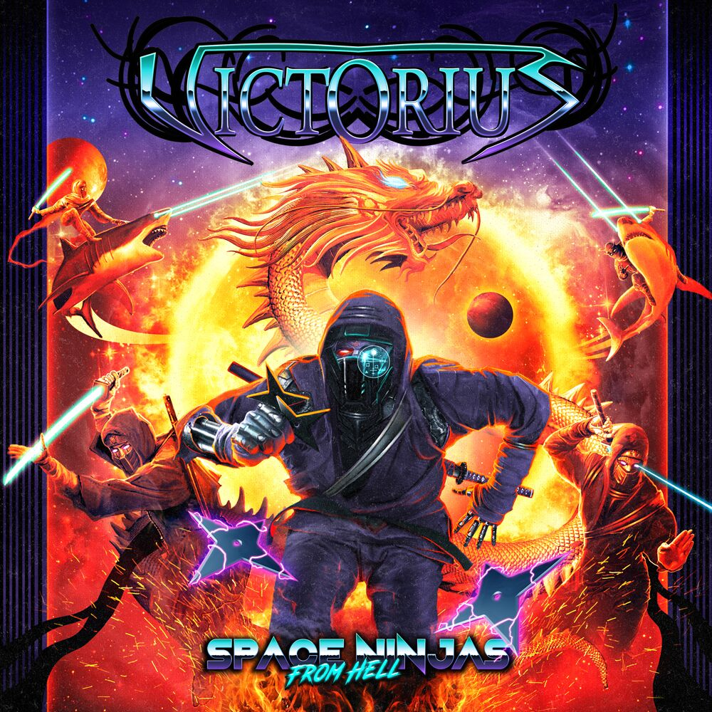 victorius space ninjas from hell album cover