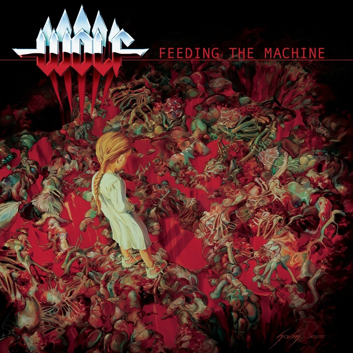 wolf feeding the machine album cover