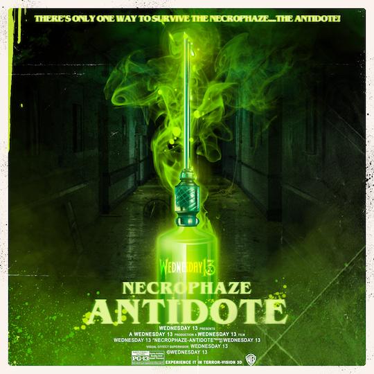 wednesday 13 necrophaze antidote album cover